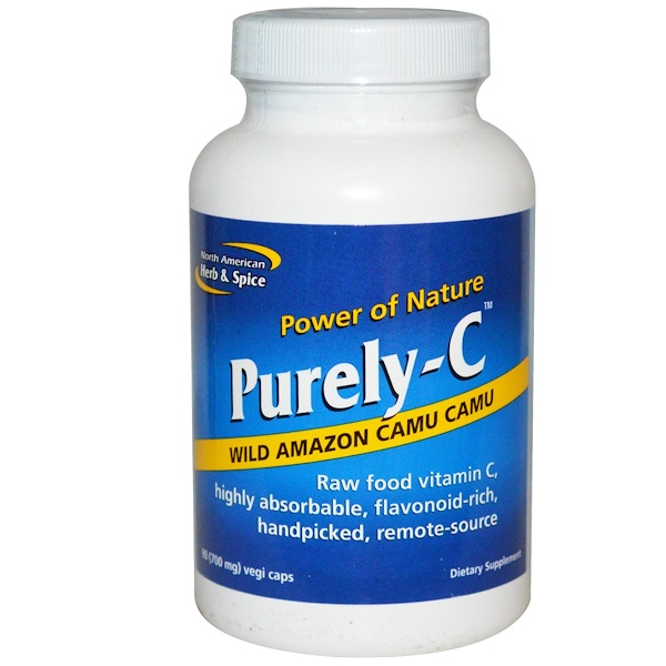 North American Herb & Spice, Purely-C, 700 mg, 90 Vegicaps