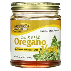 North American Herb & Spice, 未加工和野生牛至蜂蜜,10 盎司(283 克)