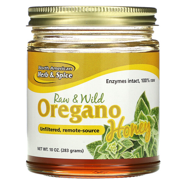 Raw & Wild Oregano Honey, 10 oz (283 g)