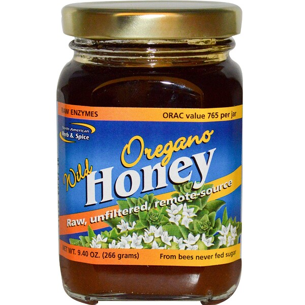 Wild Oregano Honey, 9.40 oz (266 g)
