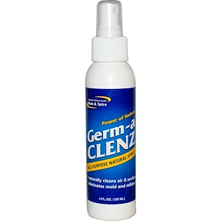 North American Herb & Spice Co., Germ-a Clenz, All Purpose Natural Spray, 4 fl oz (120 ml)