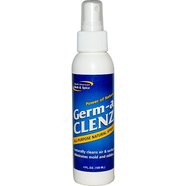 North American Herb & Spice, Germ-a Clenz, All Purpose Natural Spray, 4 fl oz (120 ml)