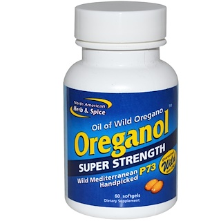 North American Herb & Spice Co., Oreganol, Super Strength, 60 Softgels