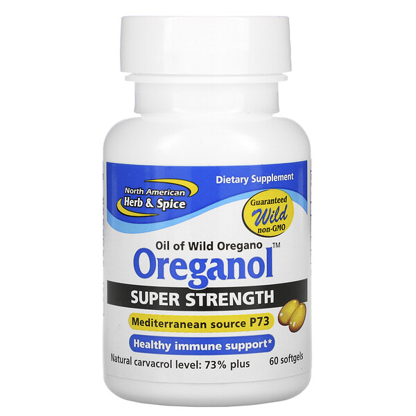 North American Herb & Spice, Oreganol, Super Strength, 60 Softgels