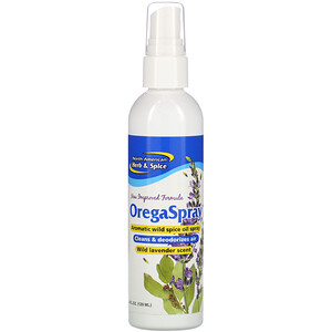 Норс Американ Херб энд Списе Ко, OregaSpray, Aromatic Wild Spice Oil Spray, Wild Lavender Scent, 4 fl oz (120 ml) отзывы покупателей