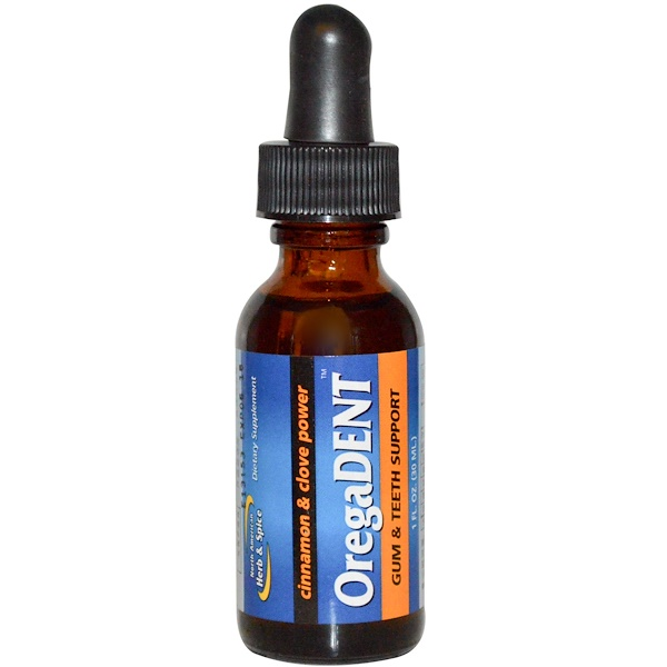 North American Herb & Spice Co., OregaDent, Cinnamon and Clove Power, 1 fl oz (30 ml) (Discontinued Item)