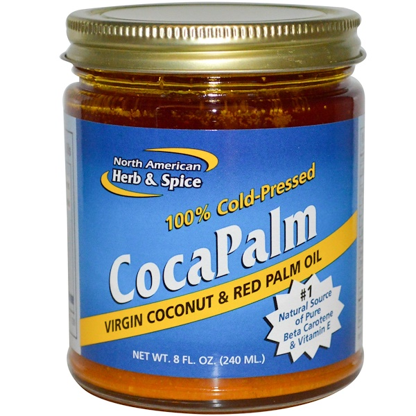 North American Herb & Spice, CocaPalm, Virgin Coconut & Red Palm Oil, 8 fl oz (240 ml) (Discontinued Item)