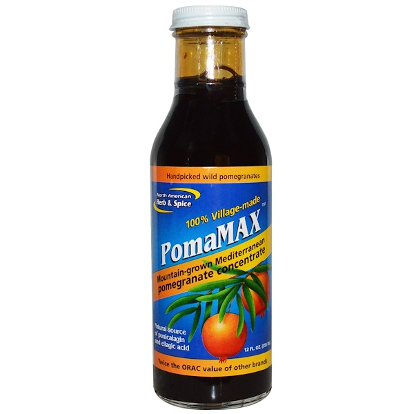 North American Herb & Spice Co., PomaMax, Mountain-Grown Mediterranean Pomegranate Concentrate, 12 fl oz (355 ml)