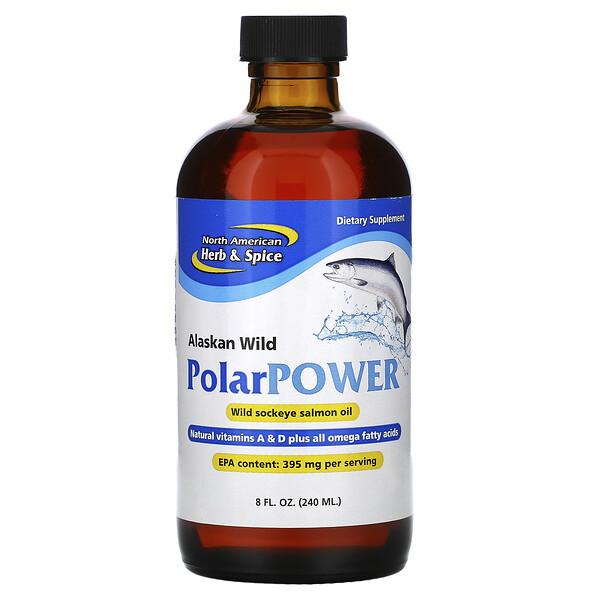 Energia Polar Selvagem do Alasca, Óleo de salmão vermelho, 8 fl oz (240 ml)