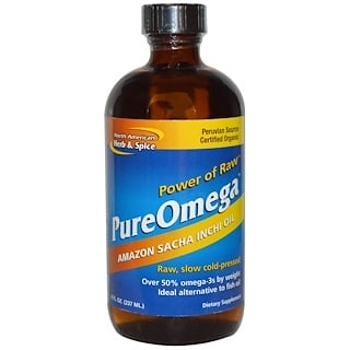 North American Herb & Spice Co., PureOmega, Amazon Sacha Inchi Oil, 8 fl oz (237 ml)