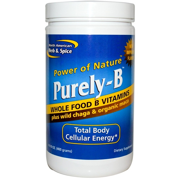 North American Herb & Spice Co., Purely-B, Whole Food B Vitamins, 14.10 oz (400 g) (Discontinued Item)