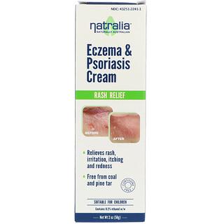 Natralia, 습진 및 건선 크림, 2온스(56 g)