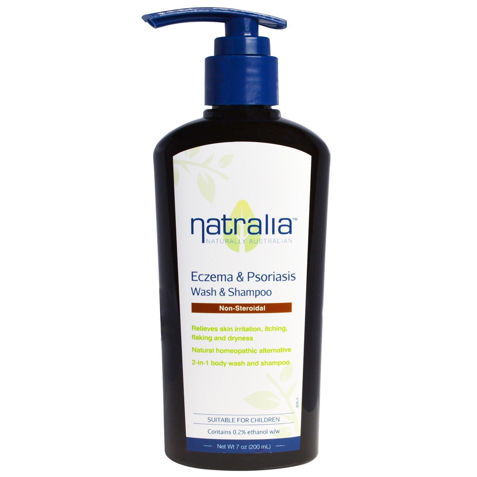 Natralia, Средство для купания и шампунь против экземы и псориаза, 200 мл (7 fl oz)