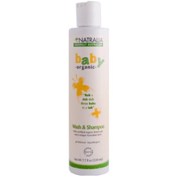 Natralia, Baby Organic, Wash & Shampoo, 7.7 fl oz (220 ml) (Discontinued Item)