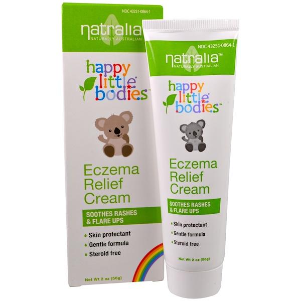 Natralia, Happy Little Bodies, Eczema Relief Cream, 2 oz (56 g) (Discontinued Item)
