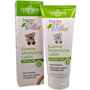 Натралия, Happy Little Bodies, Eczema Moisturizing Lotion, 6 fl oz (175 ml) отзывы
