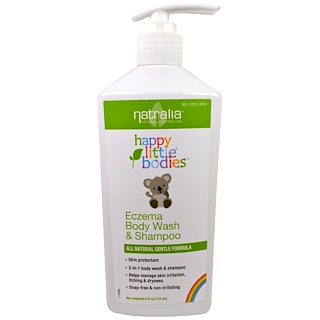 Natralia, Happy Little Bodies, Eczema Body Wash & Shampoo, 6 fl oz (175 ml)