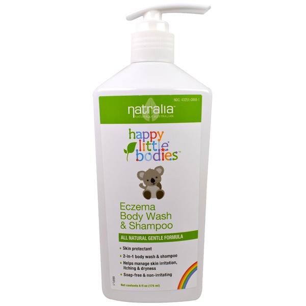 Natralia, Happy Little Bodies, Eczema Body Wash & Shampoo, 6 fl oz (175 ml)