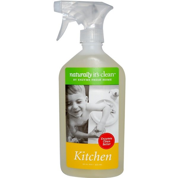 Naturally It's Clean, Kitchen Cleaner, 16 fl oz (473 ml) (Discontinued Item)