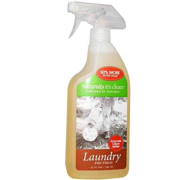 Naturally It's Clean, 洗衣預處理,25液體盎司(740毫升) (Discontinued Item)