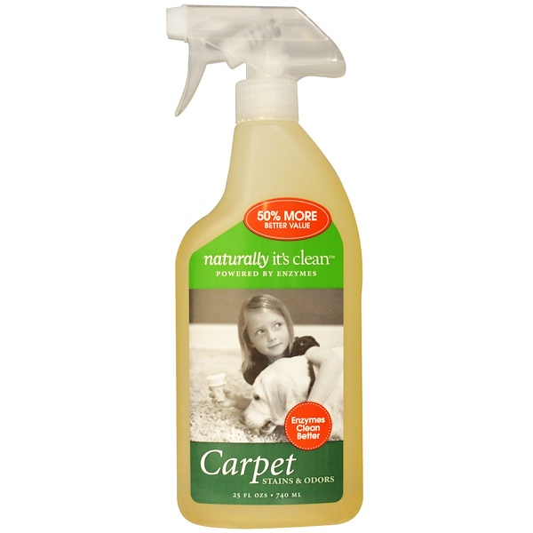 Naturally It's Clean, Carpet, Stains & Odors, 25 fl oz (740 ml) (Discontinued Item)