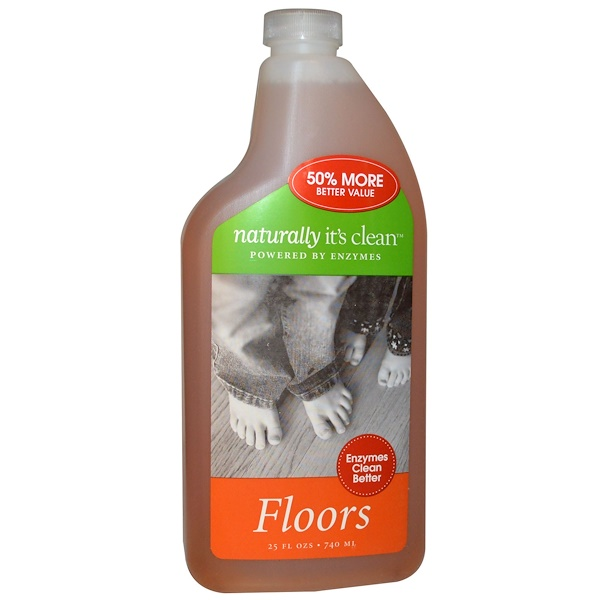 Naturally It's Clean, フロアーズ、25 fl oz (740 ml) (Discontinued Item)
