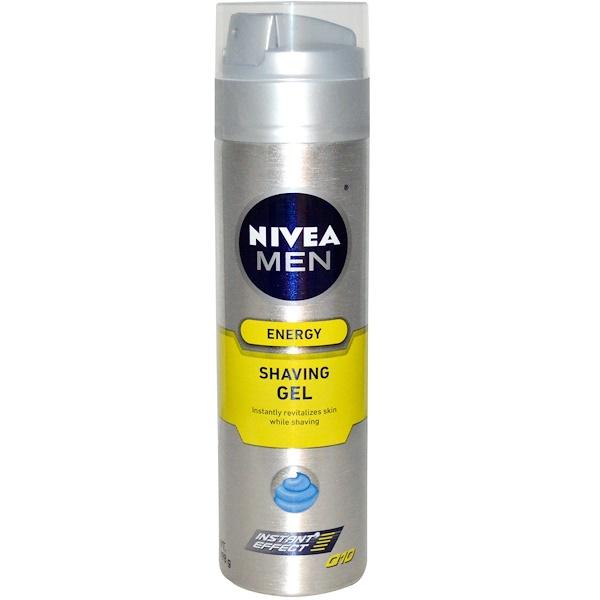 Nivea, Energy, Shaving Gel, Men, 7 oz (198 g) (Discontinued Item)