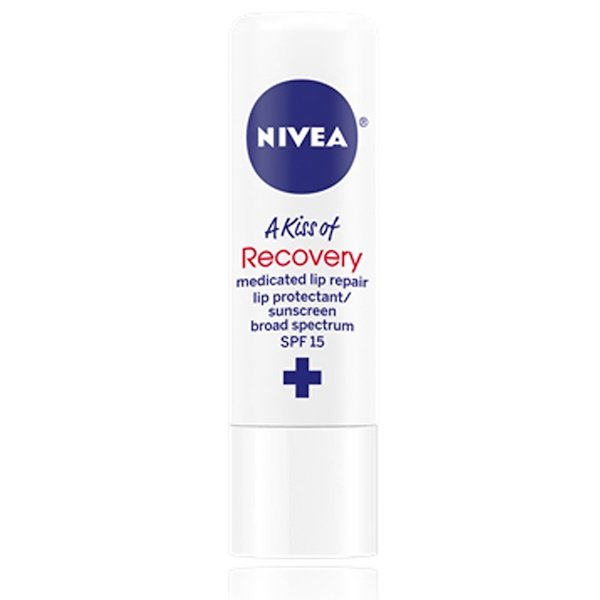 Nivea, A Kiss of Recovery, Medicated Lip Care, SPF 15, 0.17 oz