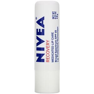 Нивеа, Recovery, Medicated Lip Protectant & Sunscreen, SPF 15, 0.17 oz (4.8 g) отзывы покупателей