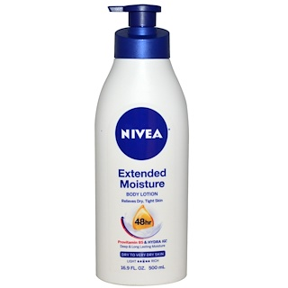 Nivea, Extended Moisture, Body Lotion, Dry to Very Dry Skin, 16.9 fl oz (500 ml)