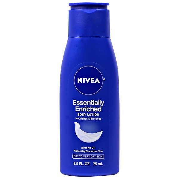 Nivea, Body Lotion, Essentially Enriched, Almond Oil, 2.5 fl oz (75 ml)