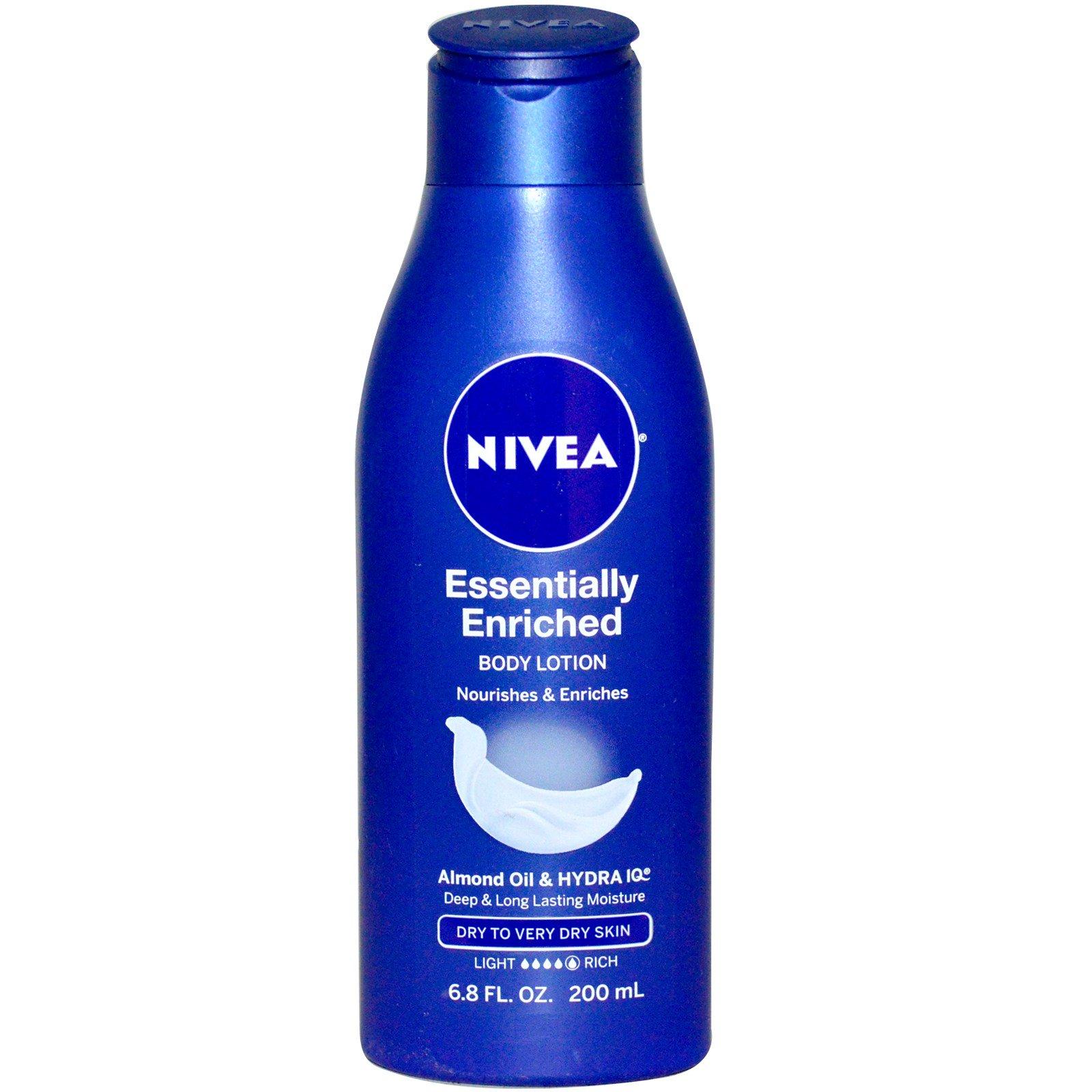 nivea essentially enriched body lotion almond oil. Black Bedroom Furniture Sets. Home Design Ideas