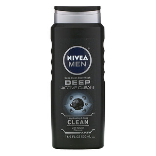 Nivea, Men, Deep Clean Body Wash, Deep Active Clean, 16.9 fl oz (500 ml)