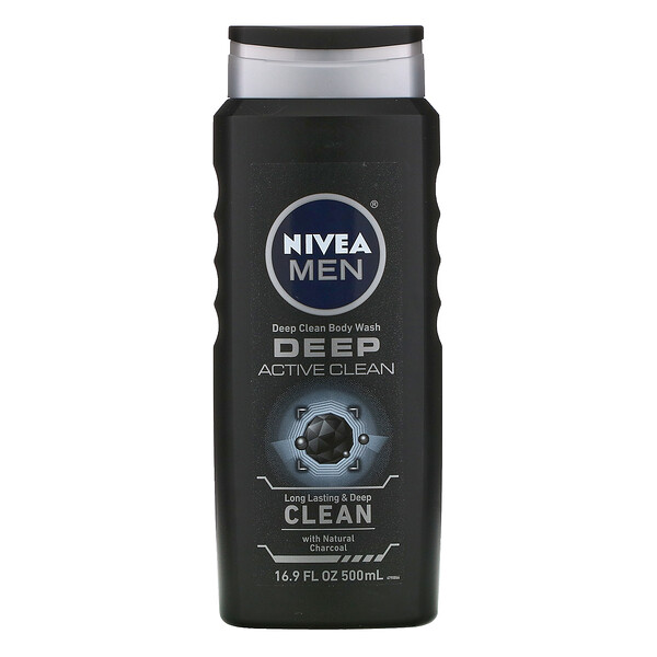 Men, Deep Clean Body Wash, Deep Active Clean, 16.9 fl oz (500 ml)