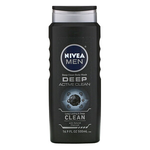 Нивеа, Men, Deep Clean Body Wash, Deep Active Clean, 16.9 fl oz (500 ml) отзывы
