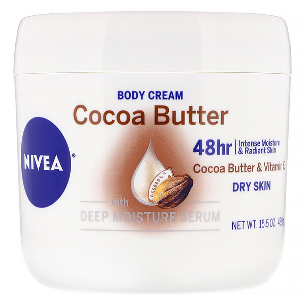 Body Cream, Cocoa Butter, 15.5 oz (439 g)