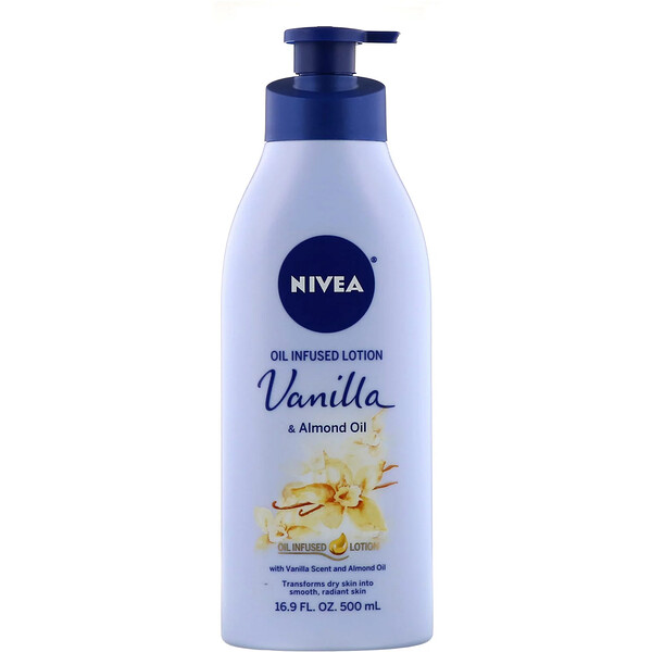 Oil Infused Lotion, Vanilla & Almond Oil, 16.9 fl oz (500 ml)