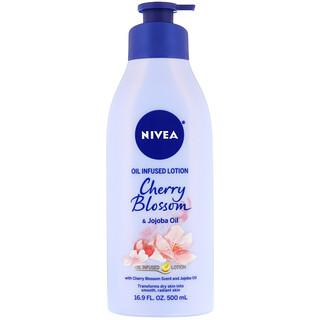 Nivea, Oil Infused Lotion, Cherry Blossom & Jojoba Oil, 16.9 fl oz (500 ml)