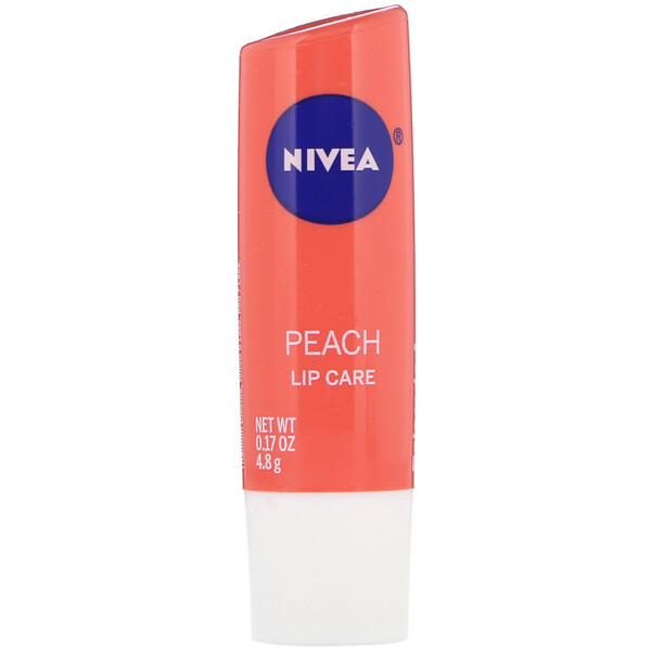 Lip Care, Peach, 0.17 oz (4.8 g)