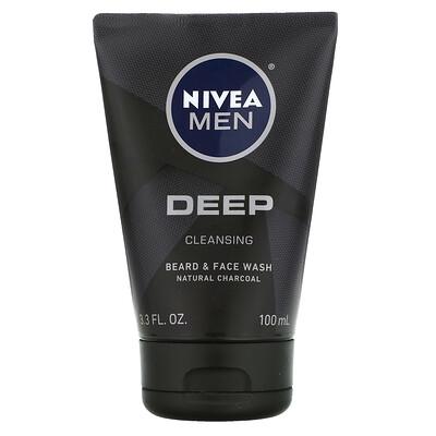 Купить Nivea Men, Deep Cleansing Beard & Face Wash, 3.3 fl oz (100 ml)