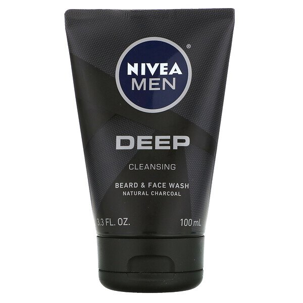 Men, Deep Cleansing Beard & Face Wash, 3.3 fl oz (100 ml)