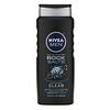 Nivea, 男士深層清潔沐浴露,岩鹽,16.9 盎司(500 毫升)