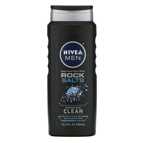 Men, Deep Clean Body Wash, Rock Salts, 16.9 fl oz (500 ml)