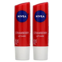 Nivea, 護唇膏,草莓,2 支,每支 0.17 盎司(4.8 克)