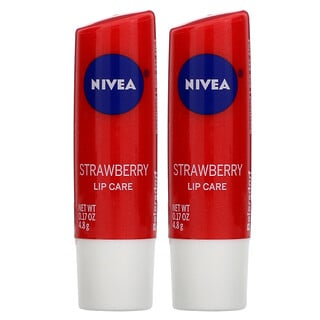 Nivea, Lip Care, Strawberry, 2 Pack, 0.17 oz (4.8 g) Each