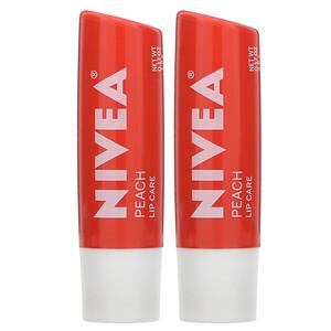 Нивеа, Tinted Lip Care, Peach, 2 Pack, 0.17 oz (4.8 g) Each отзывы