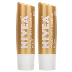 Nivea, 護唇膏,香草奶油,2 支,每支 0.17 盎司(4.8 克)