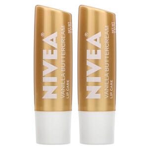 Нивеа, Lip Care, Vanilla Buttercream, 2 Pack, 0.17 oz (4.8 g) Each отзывы
