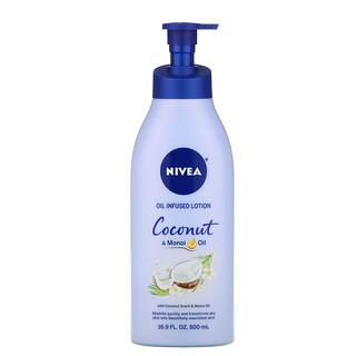 Nivea, Oil Infused Lotion, Coconut & Monoi Oil, 16.9 fl oz (500 ml)