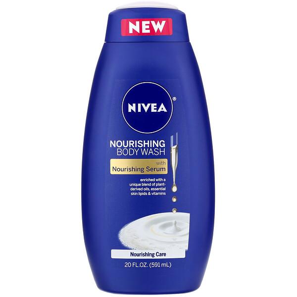 """Nivea, תחליב רחצה מזין לגוף, טיפוח מזין, 591 מ""""ל (20 אונקיות נוזל)"""